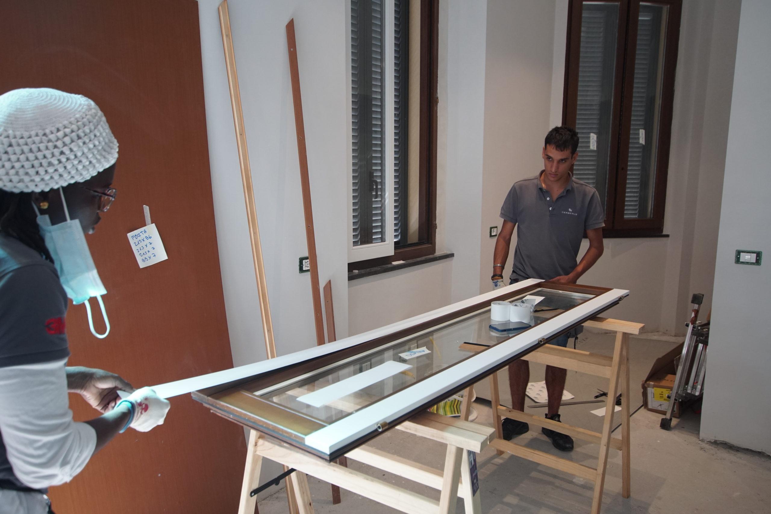Restyling infissi e porta blindata appartamento privato – Milano