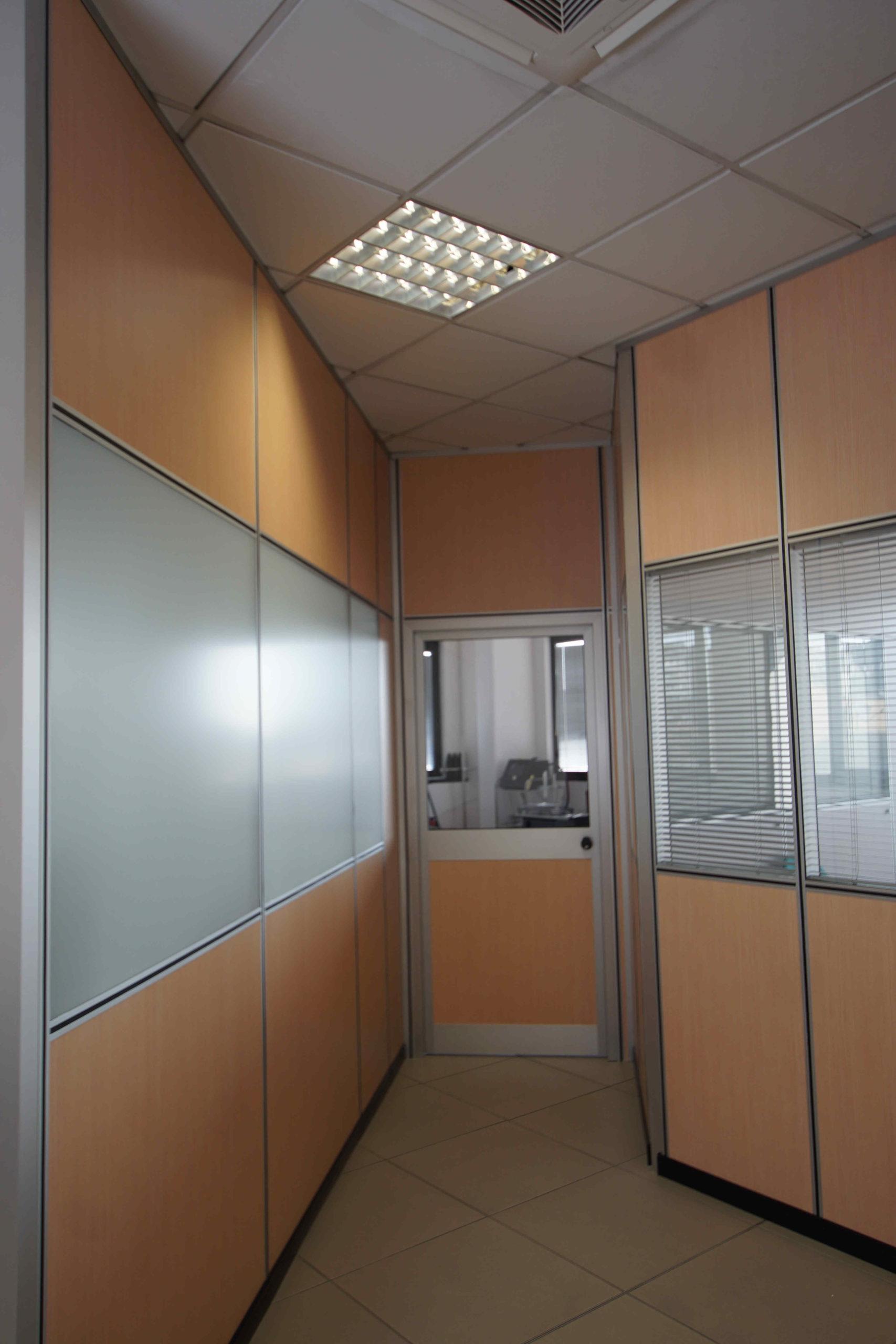 Rinnovo pareti divisorie ufficio  – Brugherio